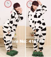 New Adult Kigurumi Animal sleepsuit Pajamas Costume Cosplay Cow Onesie