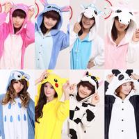 New Unisex Kigurumi Pajamas Cosplay Costumes Animal Onesies Pyjamas New style! cow, owl, panda, pikachu, stitch, unicorn