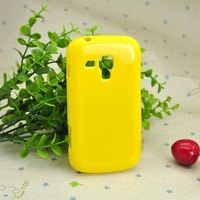Protective Soft TPU Phone caseFor Samsung S7562 Galaxy S DUOS Silicon Back Case Jelly Style Color Yellow Free shipping