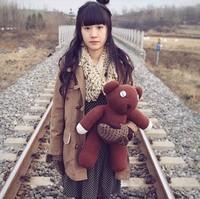 Free Shipping 22'' (55cm) Big Size Mr Bean Teddy Bear Animal Stuffed Plush Toys Brown Xmas Gift