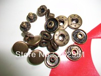100sets Antique Bronze Metal Snap Buttons fastener  wholesale (European quality standard)  - freeshipping 1.2cm