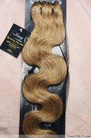 "22"" 7Pcs 75G Clip in Blended Women Hair Extensions Wavy #16 Honey Blonde"