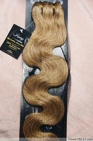 "Virgin Brazilian 22"" 7Pcs 75G Clip in Remy Hair Extensions Wavy #16 Honey Blonde"
