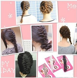 Min Order $15(mixed order) Handmade hair fashion centipede braid reverse the hair braider 3033(China (Mainland))