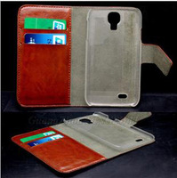 Luxury Wallet Flip Cover PU Leather Case for Samsung i9500 Galaxy S4 with Retail Package Wholesale DHL Free Shipping 50pcs/Lot