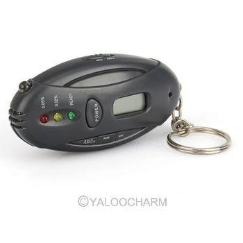 HOT 1pc Digital LCD Alcohol Tester Analyzer Breath Breathalyzer Detector Pocket Keychain 80435