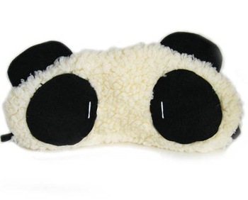 (Minimum order $5,can mix) Cute  Portable Panda Shape Sleeping Mask Sleep Eyeshade HQS-33451
