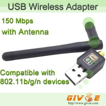 Mini 150Mbps USB WiFi Wireless Network Networking Card 802.11n/g/b Lan Adapter with Antenna For Computers Free Shipping