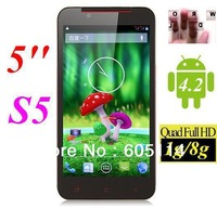 5inch Star S5 quad core mtk6589 3g gps android 4.2 smart mobile phone 1G 8GB 12.0MP dual Camera