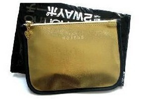 Non-no nojess fashion gold storage bag cosmetic bag debris bags