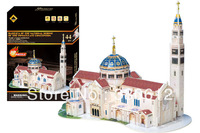 FREE SHIPPING 3D Puzzle Basilica Of the National Shrine The World Great Achitecture educational toys for kids NEW ARRIVAL HOT