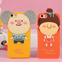Cute ROMANE MOMOS Momo's Blog 3D Silicone Soft Case Cover For iPhone 4 4S iPhone 4S 5pcs/Lot Free Shipping