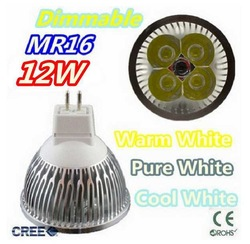 Super low price time buying 10pcs/lot Dimmable LED Lamp MR16 4X3W 12W LED Light Bulbs High Power LED Spotlight(China (Mainland))