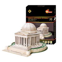 FREE SHIPPING 3D Puzzle Thomas Jefferson Memorial Souvenir The World Great Achitecture educational toys for kids  NEW ARRIVAL