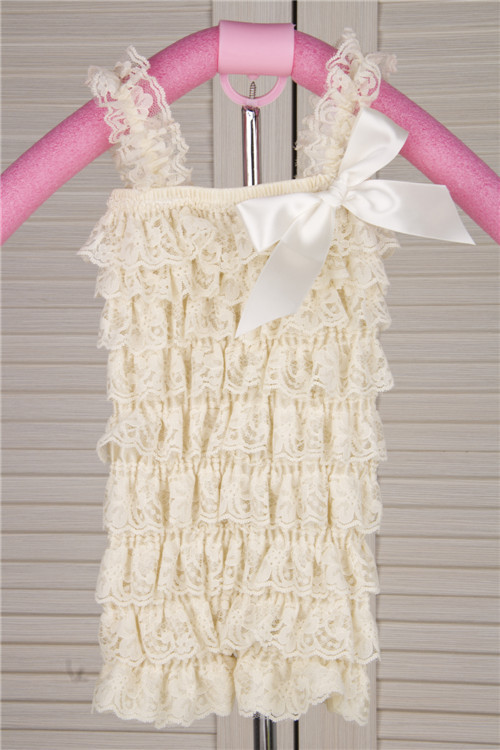 free shipping wholesale 2013 summer new fashion lace petti ruffle rompers for baby girls/infant kids lace bubble rompers(China (Mainland))