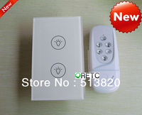 Promotions!Buy5 get 1 free! Free by DHL EMS Fedex  2 gang touch screen light switch, AC110-240V, US style wall switch 2 way