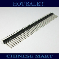 800 PIN /Lot Gold plated Single Row 1x40 pin 2.54mm 15mm Male Header Strip Free shipping #J008