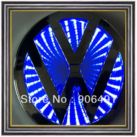 Car  rear  Bora  model  Blue colour  3D emblem shining plastic cool shining Car LED brand logo for VW Bora CC retail box