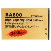 Battery for Sony Xperia U ST25i BA600 2450mAh High Capacity Gold Business Standard Li-ion Battery