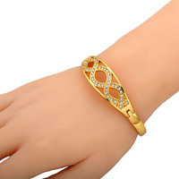 Attention! New fashion Amy-bria women plating 24K gold stainless steel bangle Reasonable price for wholesale Free shipping!