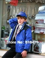 Kids fashion outdoor jacket, 2 in 1 detachable fleece, waterproof and windbreak, boys and girls unisex wear, rich colors