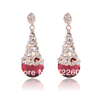 Fashion Jewelry Earring with Crystal as cherry Party or Festival Earring Stock EG004