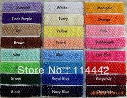 Free Shipping 100 pcs/ lot 24 Colors Crochet Elastic Headbands Girl Hair Accessary(China (Mainland))