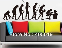 "67""*24"" (170x60cm) XY1027 The Theory of Evolution Wall Sticker Fun Mural 4 Teaching Purpose PVC Removable Quality Resell Packing"