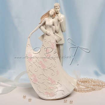 """Free Shipping """"Lean On My Shoulder"""" Resin Wedding Cake Topper Wedding Decoration Centerpieces"""