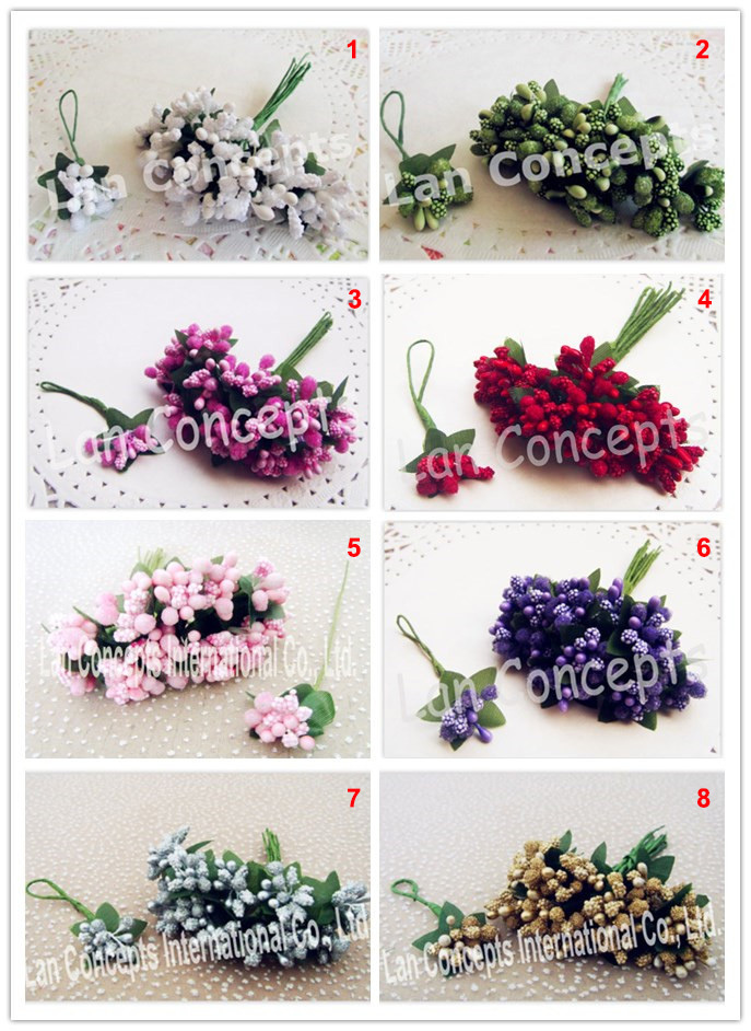 Wholesale DIY Wedding Handmade Flower Mini Paper Flowers Decoration Flower Craft Flower - 288pcs/lot LA0003 red(China (Mainland))