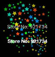 3cm=10pcs,2.5cm=15pcs,2cm=30pcs,1.5=70pcs,total 125 starsstickers tvbackground kid room fluorescence colorful stars wall sticker