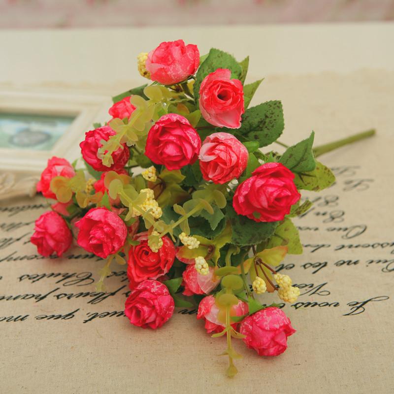 2014 facas de cozinha por tempo limitado cama seção explosão quente definir flor rosa artificial decoração qualidade de moda de seda rústica(China (Mainland))