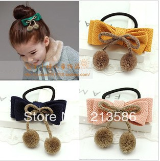 SWEETDAY  girl bow elastic  hair bands 6 colors very beautiful FREESHIPPINHG