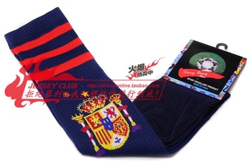 Spain team football socks thickening towel ball socks over-the-knee barreled football socks stockinets