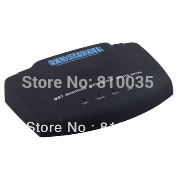 Free shipping&wholesale 1pcs/lot USB LAN Server NAS/Print Network Server&BT Download Client