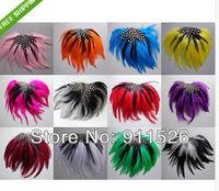 10PCS wholesale free shipping Luxurious 10pcs Feather Pads Headdress 12 colors