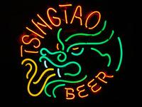 TSINGTAO BEER LOGO BAR NEON LIGHT SIGN Handcrafted Free Shipping 17*13