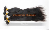 Free Shipping Malaysian straight Hair 5A Top Quality 100% Virgin Human Hair 3PCS/LOT Nature Black 12 inches ~28 inches