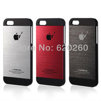 Free shipping Thin Brushed Aluminum case for iphone 5 Hard Luxury, Titanium steel mesh Metal back cover for iphone 5