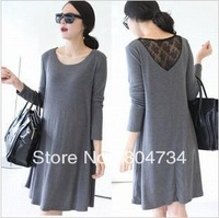 Maternity Apparel / loose round neck back lace women dress / Spring and Autumn