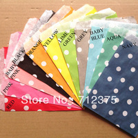 "5""x7"" (12.7cm x 17.7cm)Wedding polka dot party favor Bags Candy Paper Goods Bag kraft bags 1100pcs (25pcs/opp bag)"
