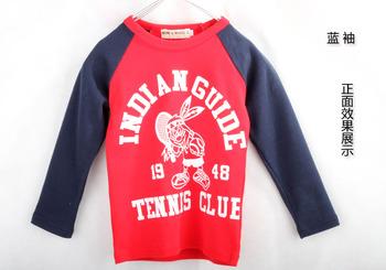 2013 children's spring clothing child 100% cotton t-shirt 1948 tennis ball long-sleeve T-shirt children's o-neck casual clothing