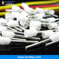 Free Shipping  White E7510 PVC Insulated Bootlace Ferrules For 0.75mm2, 20 AWG Wire, 10mm of Pin Length