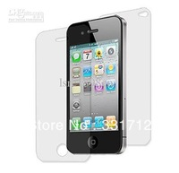 For iPhone 4Gen screen LCD back cover clear protectors front and back 2pcs/pack 500pcs/Lot