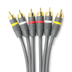 Ce-link video cable 3rca transmission line 3 times . rca 3 times . rca 2 meters(China (Mainland))