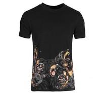 fashion men rottweiler shirt dog head shirt cotton short sleeve t-shirt shirts print tees tops tank blouse free shipping