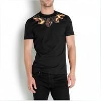 fashion men rottweiler style t-shirt dog head print short sleeve t-shirt shirts tops tank tees free shipping
