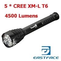 1PC TrustFire TR-J12 Flashlight 5 * CREE XM-L T6 LED 5-Mode 4500 Lumens Memory High Power Camping Hiking LED Torch + Holster