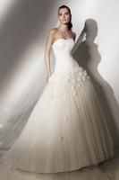 The new style2013 wedding princess wedding dress thin straps bride train wedding dress Custom size