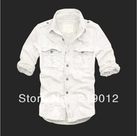 Wholesale ! ,2012 New arrival,hot selling,pure cotton wash water,,men's brand long sleeve shirt,wholesale and retail